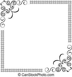 vetorial, decorativo, bordas