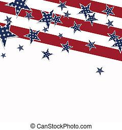 vetorial, desenho, dia, independência