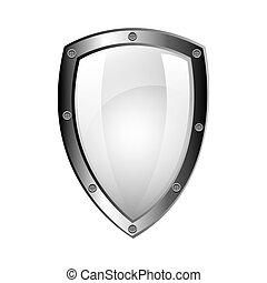 vetorial, desenho, escudo, proteção