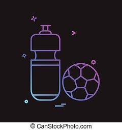 vetorial, desenho, futebol, ícone