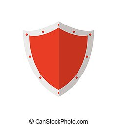vetorial, desenho, isolado, escudo