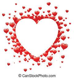 vetorial, dia, cartão, valentines