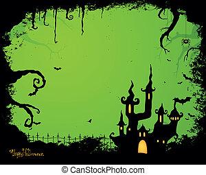 vetorial, dia das bruxas, fundo