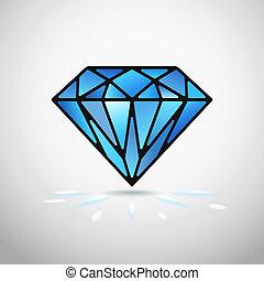 vetorial, diamante