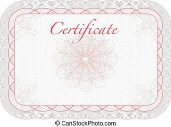 vetorial, diploma, modelo, certificado