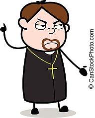 vetorial, disposição, -, ilustração, conversação, padre, ...