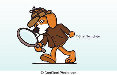 vetorial, download, t, sherlock, desenho, t-shirt, holmes, gráficos, cão, camisa