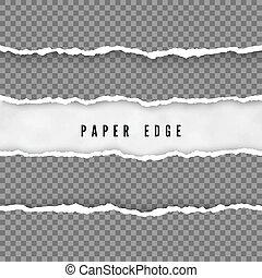 vetorial, edge., papel, textura, transparente, fundo, ...
