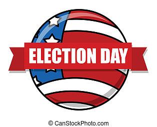 vetorial, eleição, ilustração, dia