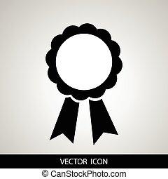 vetorial, emblema, distinção, fita