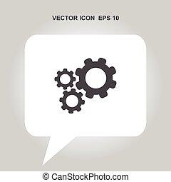 vetorial, engrenagem, ícone