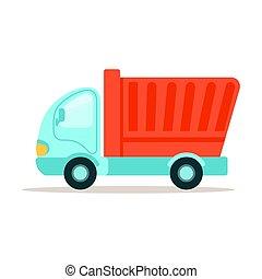 vetorial, entulho, coloridos, ilustração, equipamento, maquinaria construção, caminhão, caricatura