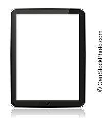 vetorial, eps10, tabuleta, isolado, ilustração, realístico, computador, white.