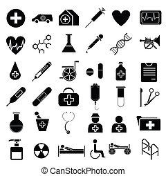 vetorial, equipamento, médico