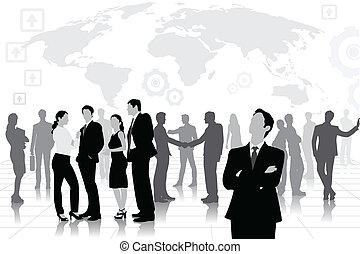 vetorial, equipe negócio