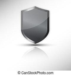 vetorial, escudo, proteção, ícone