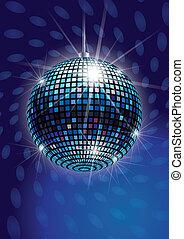 vetorial, esfera espelho, discoteca