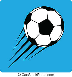 vetorial, esfera football, (soccer)