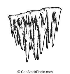vetorial, estalactite, elemento, icicle, geada,...