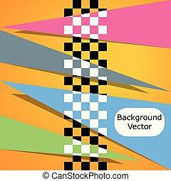 vetorial, estilo, quadrado, correndo, espaço, text., ilustração, experiência., abstração, xadrez, correndo, seu, design.