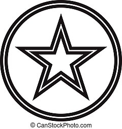 vetorial, estrela, ícone