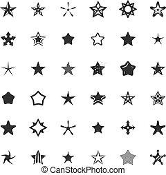 vetorial, estrela, ícones