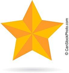 vetorial, estrela, ouro, ícone