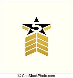 vetorial, estrelas, 5, prêmio, cinco, qualidade, ilustração, logotipo, desenho, estrela
