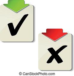 vetorial, etiquetas, confira mark
