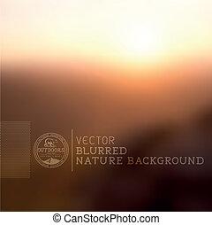vetorial, experiência blurry, natureza