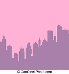 vetorial, experiência., jogo, cityscape, ilustração