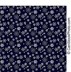 vetorial, experiência., seamless, pattern., snowflake, snowflakes