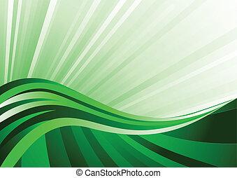 vetorial, experiência verde