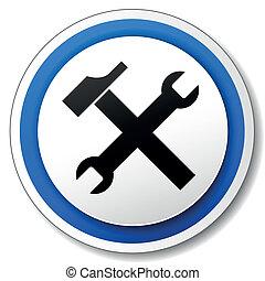vetorial, ferramentas, ícone
