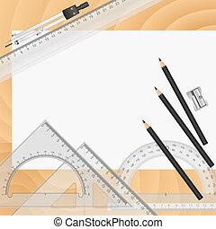 vetorial, ferramentas, desenho
