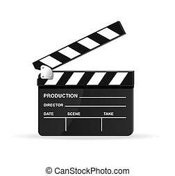 vetorial, filme, tábua clapper