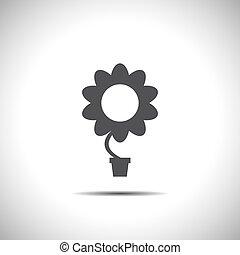 vetorial, flor, ícone