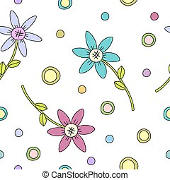 vetorial, flor, coloridos, textura