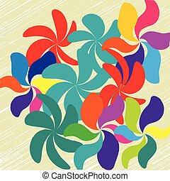vetorial, flor, fundo