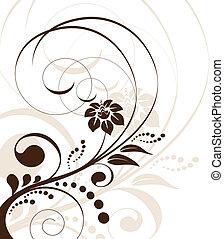 vetorial, floral, fundo