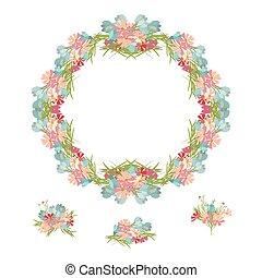 vetorial, floral, ilustração, fundo
