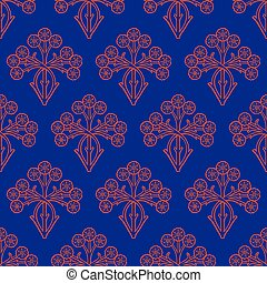 vetorial, floral, seamless, padrão