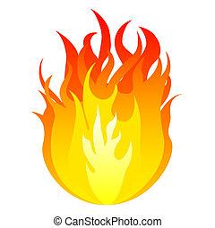 vetorial, fogo