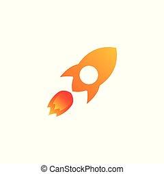 vetorial, foguete, ilustração, ícone