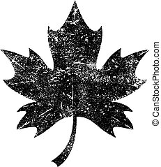 vetorial, folha, maple, ícone