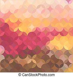 vetorial, fundo, coloridos, mosaico