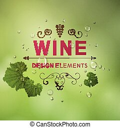 vetorial, fundo, vinho