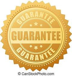 vetorial, garantia, selo ouro