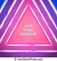 vetorial, geomã©´ricas, fundo, com, triangle., hipster, theme.