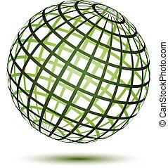 vetorial, globo